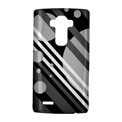 Gray lines and circles LG G4 Hardshell Case
