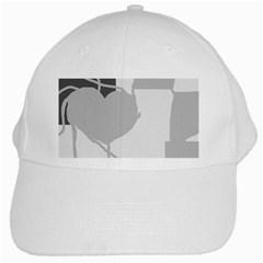 Gray hart White Cap