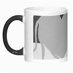 Gray hart Morph Mugs