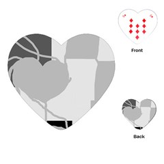 Gray hart Playing Cards (Heart)
