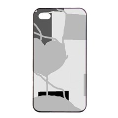 Gray hart Apple iPhone 4/4s Seamless Case (Black)