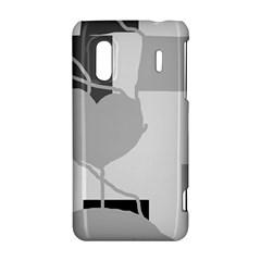 Gray hart HTC Evo Design 4G/ Hero S Hardshell Case