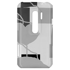 Gray hart HTC Evo 3D Hardshell Case