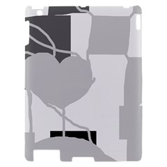 Gray hart Apple iPad 2 Hardshell Case