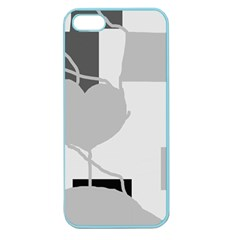 Gray hart Apple Seamless iPhone 5 Case (Color)