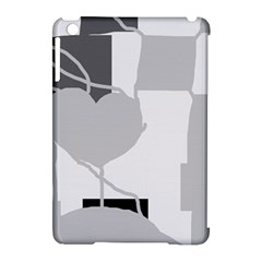 Gray hart Apple iPad Mini Hardshell Case (Compatible with Smart Cover)