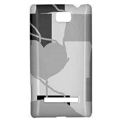 Gray hart HTC 8S Hardshell Case
