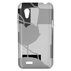 Gray hart HTC Desire VT (T328T) Hardshell Case