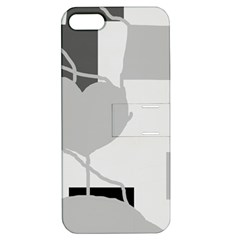 Gray hart Apple iPhone 5 Hardshell Case with Stand