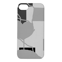 Gray hart Apple iPhone 5S/ SE Hardshell Case