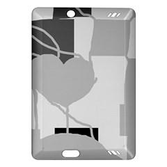 Gray hart Amazon Kindle Fire HD (2013) Hardshell Case