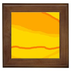 Yellow decorative design Framed Tiles