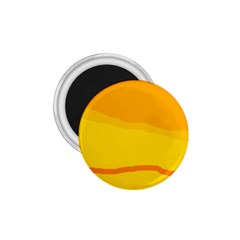 Yellow decorative design 1.75  Magnets