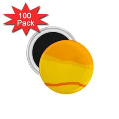 Yellow decorative design 1.75  Magnets (100 pack)