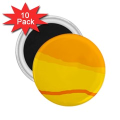 Yellow decorative design 2.25  Magnets (10 pack)