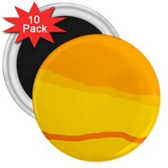 Yellow decorative design 3  Magnets (10 pack)