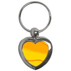 Yellow decorative design Key Chains (Heart)