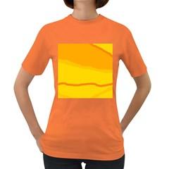 Yellow decorative design Women s Dark T-Shirt
