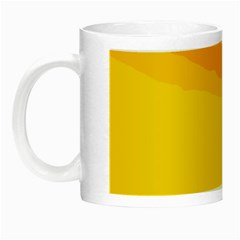 Yellow decorative design Night Luminous Mugs