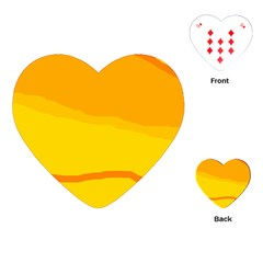 Yellow decorative design Playing Cards (Heart)