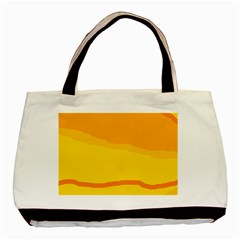 Yellow decorative design Basic Tote Bag (Two Sides)