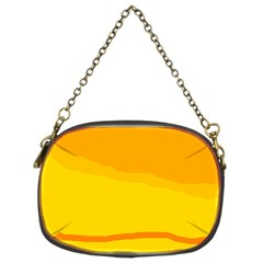 Yellow decorative design Chain Purses (Two Sides)