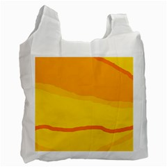 Yellow decorative design Recycle Bag (Two Side)