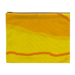 Yellow decorative design Cosmetic Bag (XL)