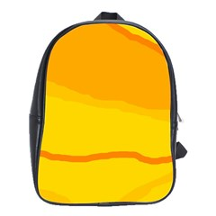 Yellow decorative design School Bags(Large)