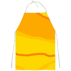 Yellow decorative design Full Print Aprons