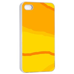 Yellow decorative design Apple iPhone 4/4s Seamless Case (White)