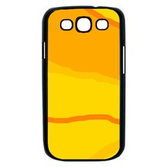 Yellow decorative design Samsung Galaxy S III Case (Black)