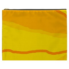 Yellow decorative design Cosmetic Bag (XXXL)