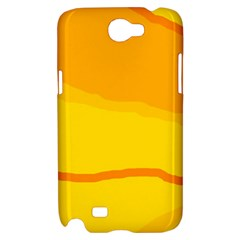 Yellow decorative design Samsung Galaxy Note 2 Hardshell Case