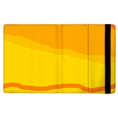 Yellow decorative design Apple iPad 3/4 Flip Case