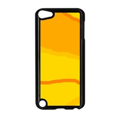 Yellow decorative design Apple iPod Touch 5 Case (Black)