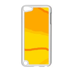 Yellow decorative design Apple iPod Touch 5 Case (White)