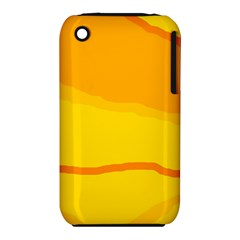 Yellow decorative design Apple iPhone 3G/3GS Hardshell Case (PC+Silicone)