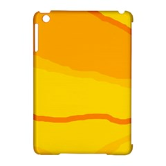 Yellow decorative design Apple iPad Mini Hardshell Case (Compatible with Smart Cover)
