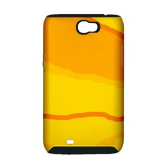 Yellow decorative design Samsung Galaxy Note 2 Hardshell Case (PC+Silicone)