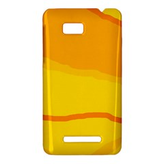 Yellow decorative design HTC One SU T528W Hardshell Case
