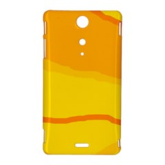 Yellow decorative design Sony Xperia TX