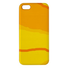 Yellow decorative design iPhone 5S/ SE Premium Hardshell Case