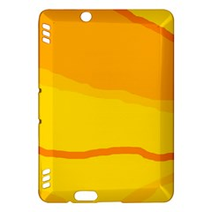 Yellow decorative design Kindle Fire HDX Hardshell Case