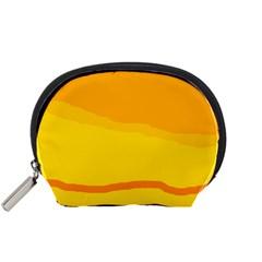 Yellow decorative design Accessory Pouches (Small)
