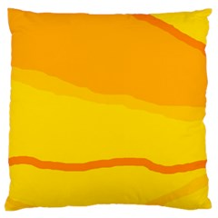 Yellow decorative design Standard Flano Cushion Case (One Side)