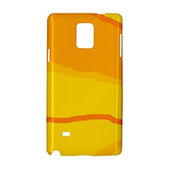 Yellow decorative design Samsung Galaxy Note 4 Hardshell Case