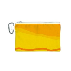 Yellow decorative design Canvas Cosmetic Bag (S)