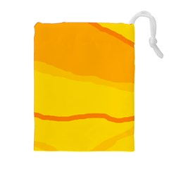 Yellow decorative design Drawstring Pouches (Extra Large)