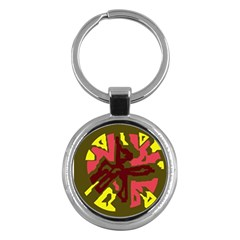 Abstract design Key Chains (Round)